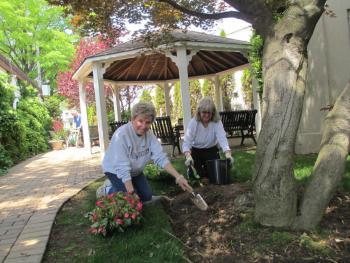 Clair and Debra Gardening