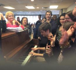 intergenerational holiday sing a long