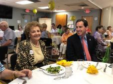 Matilda Cuomo with Senator Kaminski