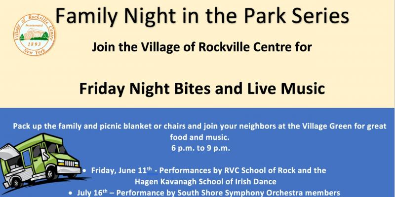 Family Night in the Park Informational Flyer
